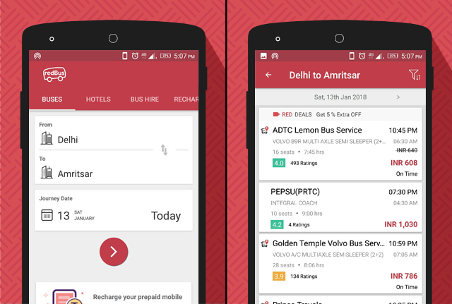 Redbus app
