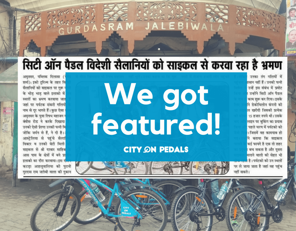 City On Pedals got featured in the local newspaper in Amritsar
