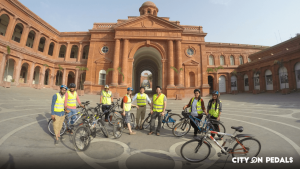 Our Heritage Bicycle Tour include a ride through Partition Museum
