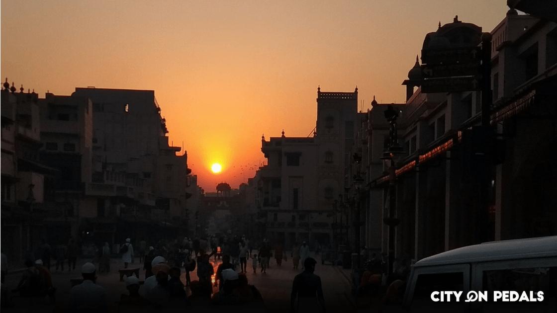 sunrise at golden temple area