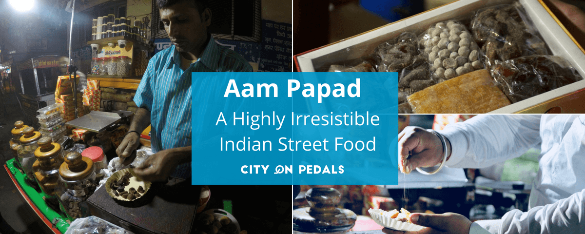 "Aam Papad - a fruit that which can be served in form of different shapes and flavours at Amritsar famous shop ""ram lubhaya"""