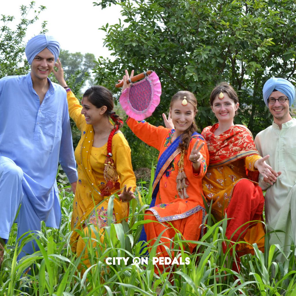 Traditional Punjabi attire with the Amritsar Village Tour