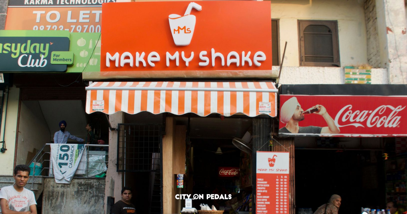 Make My Shake is famous for its flavored milk shakes and fruit beer