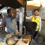 Having fun with the Amritsari Kulcha vendor