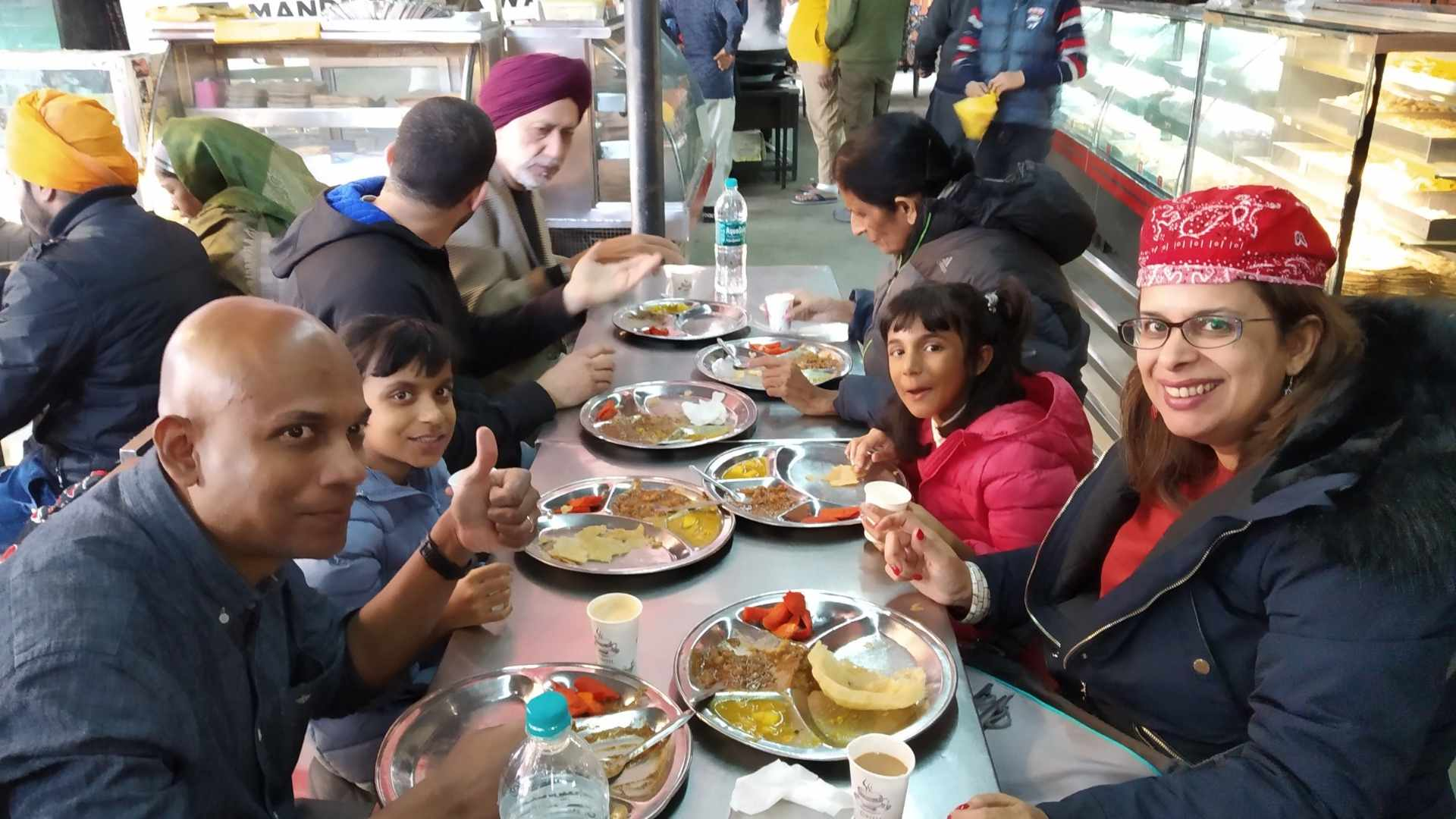 Traditional Punjabi Breakfast at Mata Longawala Devi Mandir
