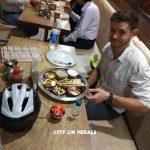 Traditional Punjabi Thali for dinner on the Amritsar Street Food Bicycle Tour