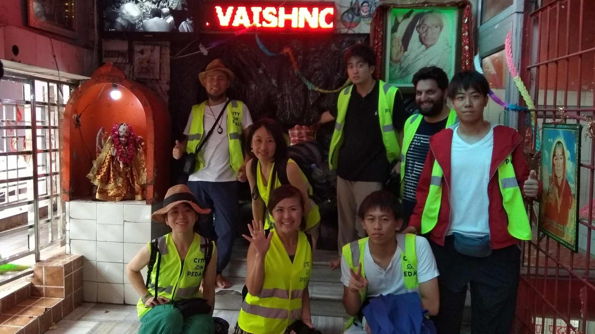 Japanese travelers in Mata Lal Devi Mandir