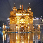 View of Golden Temple at night
