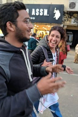 Having fun with other travelers on the Jaipur Heritage Walking Tour