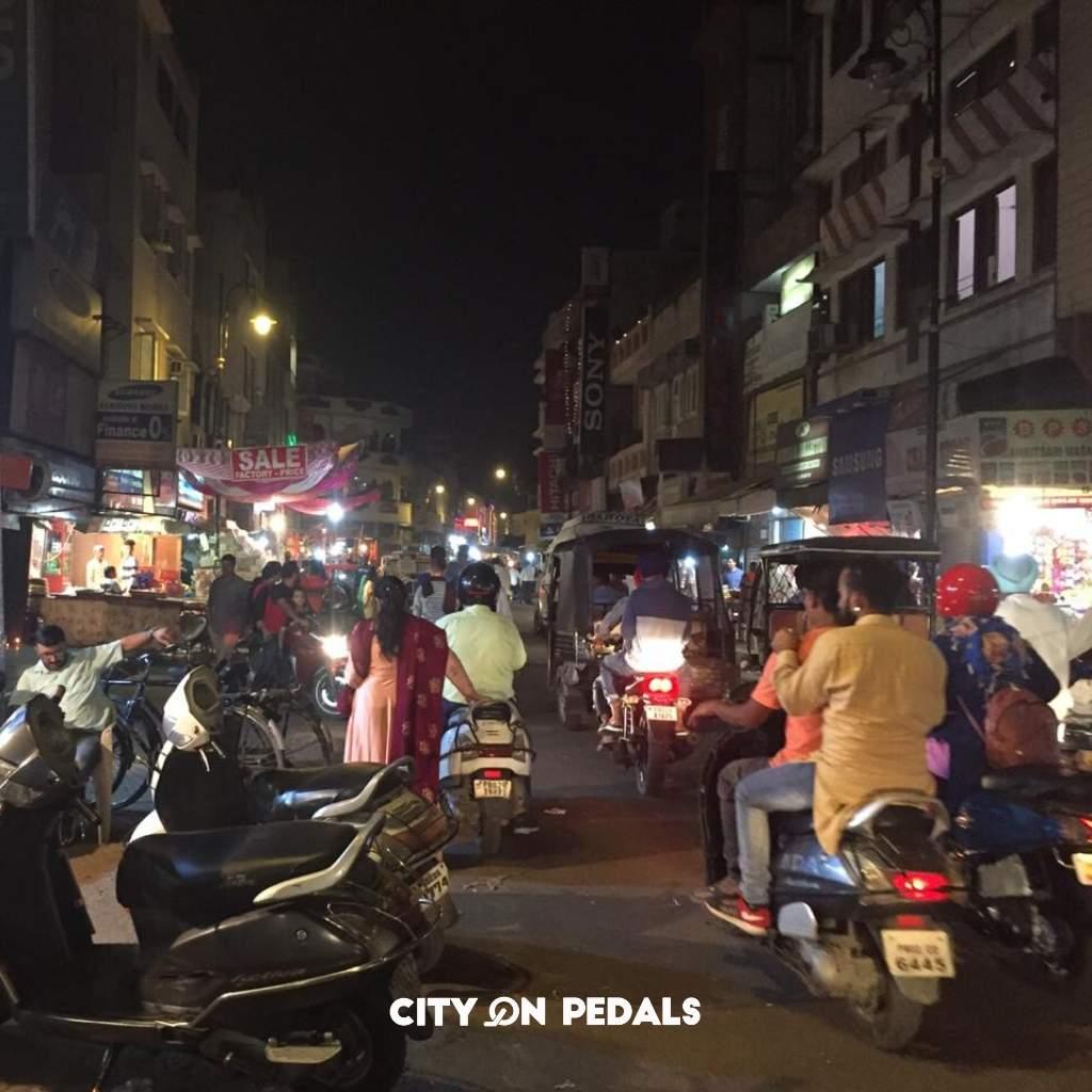 Amritsar Bazaar at night