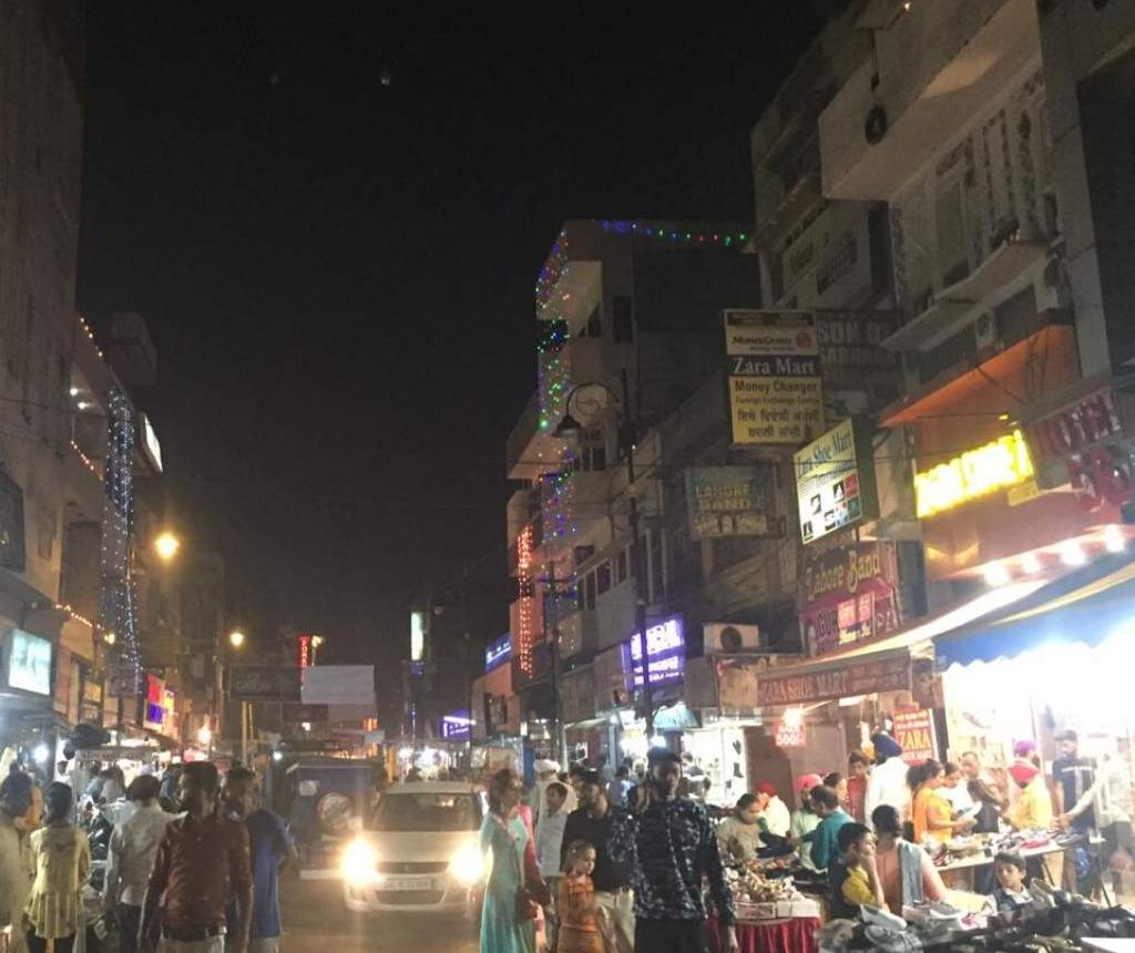 Night time in Amritsar bazaars