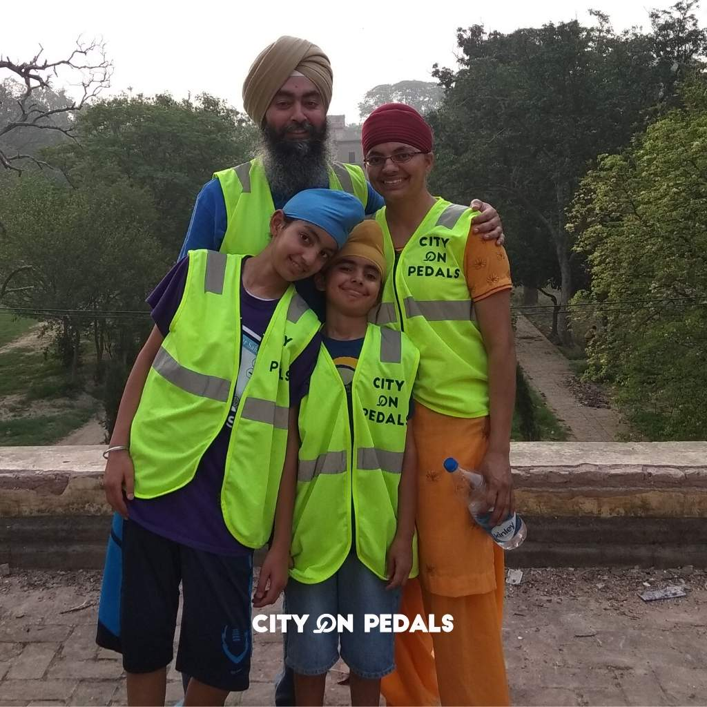 A happy Sikh family