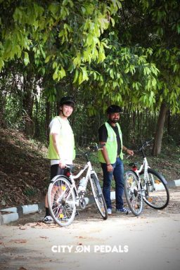 Bicycle ride in Chandigarh