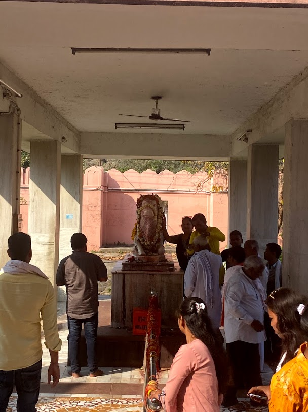People visiting temples