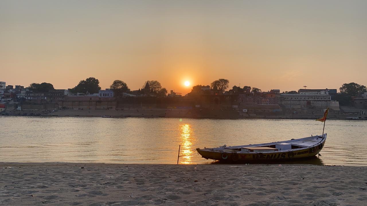 Sunset in Ganga
